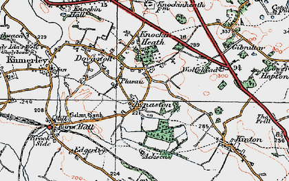 Old map of Wolfshead in 1921