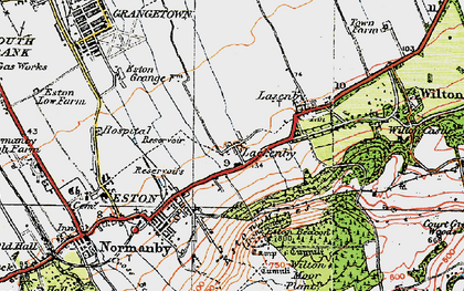 Old map of Lackenby in 1925