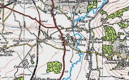 Old map of Lacock in 1919