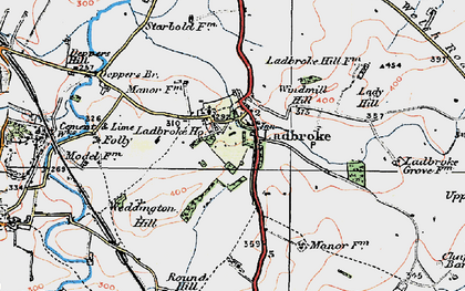 Old map of Wills Pastures in 1919