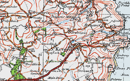 Old map of Laddenvean in 1919