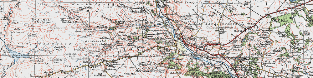 Old map of Mosscarr in 1925