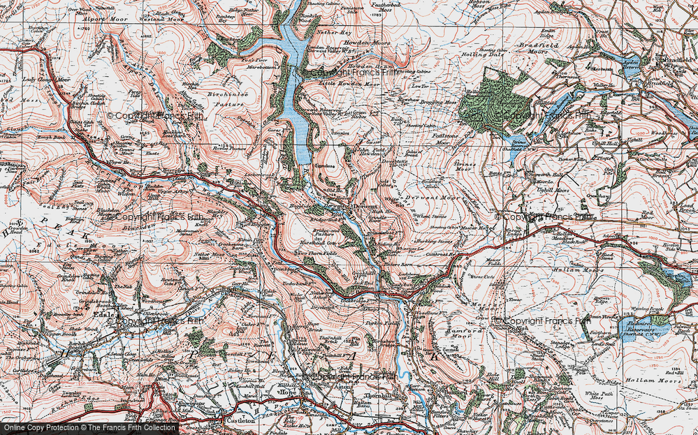 Old Map of Historic Map covering White Tor in 1923