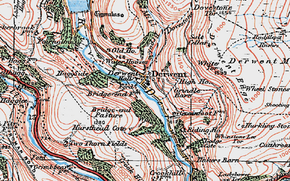 Old map of Wheel Stones in 1923