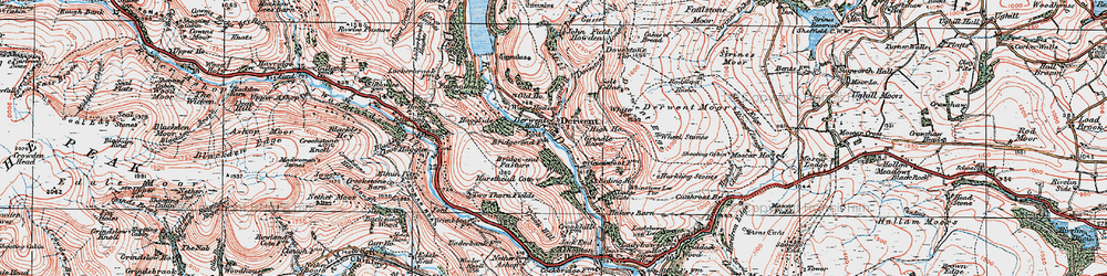 Old map of White Tor in 1923