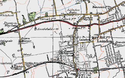 Old map of Laindon in 1920