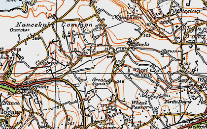 Old map of Laity Moor in 1919