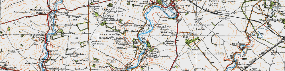 Old map of Wilsford Group in 1919
