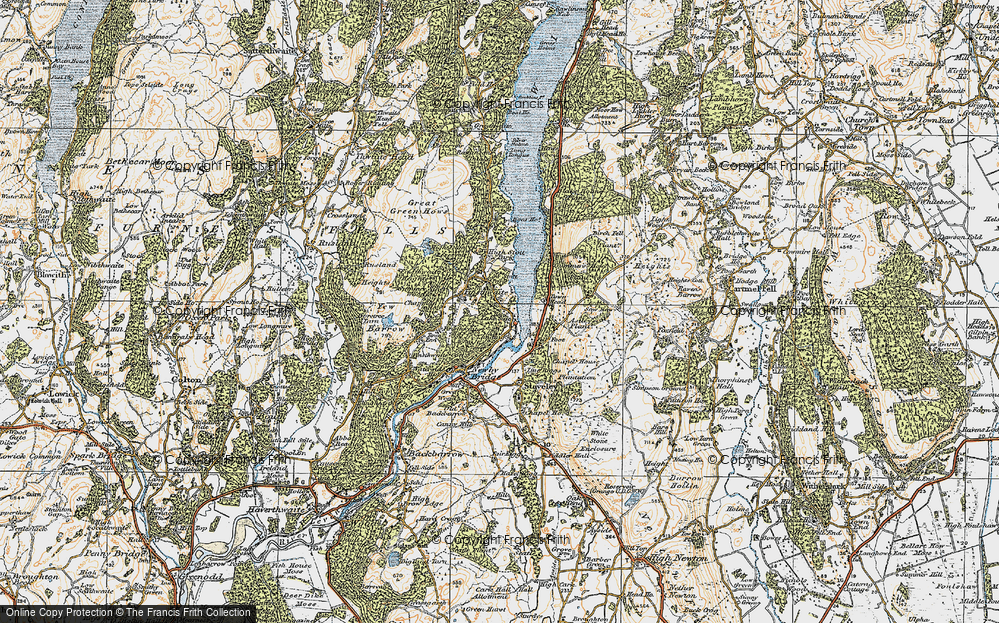Old Map of Historic Map covering Astley's Plantation in 1925