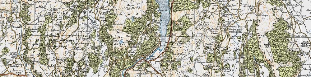 Old map of YMCA National Centre in 1925