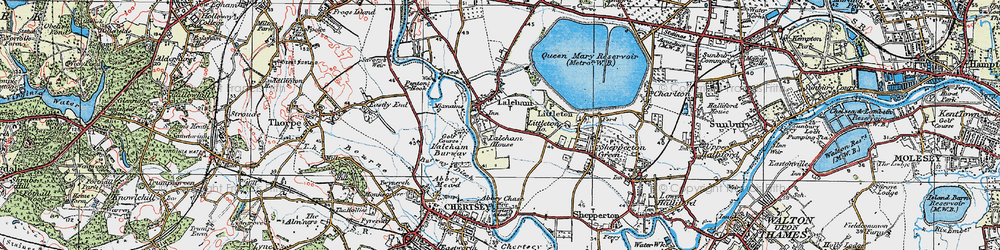 Old map of Abbey Chase in 1920