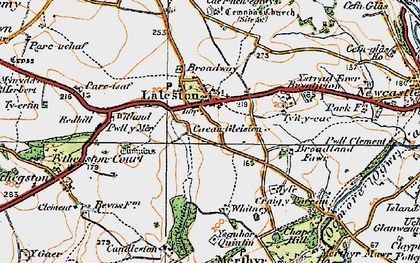 Old map of Laleston in 1922
