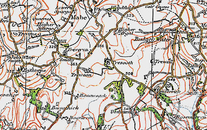Old map of Lamanva in 1919
