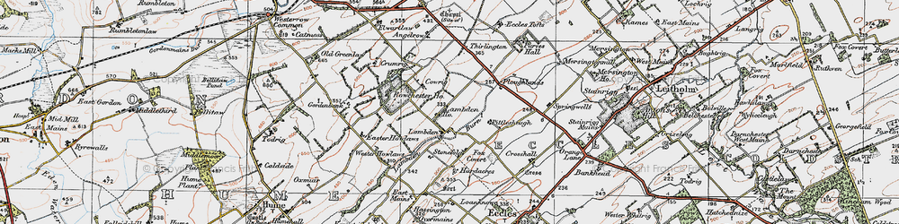 Old map of Wester Howlaws in 1926