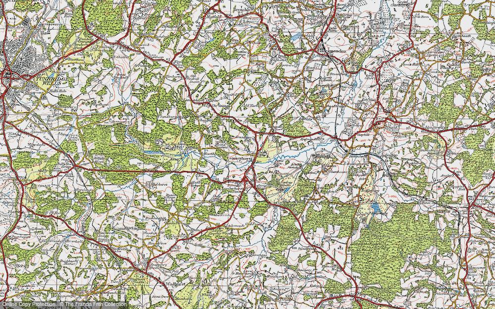 Old Map of Lamberhurst, 1920 in 1920