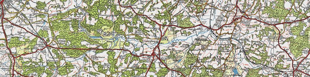 Old map of Lamberhurst in 1920