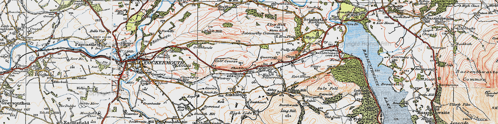 Old map of Tom Rudd Beck in 1925