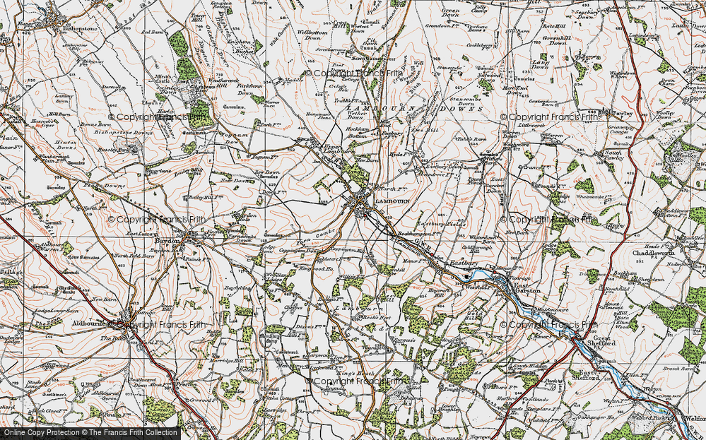 Old Map of Lambourn, 1919 in 1919