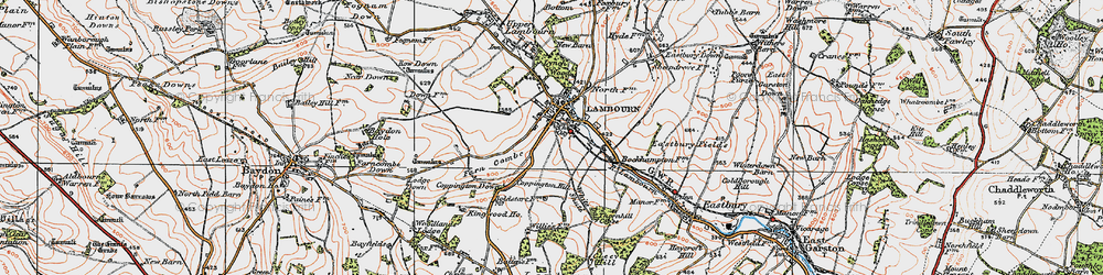 Old map of White Shute in 1919
