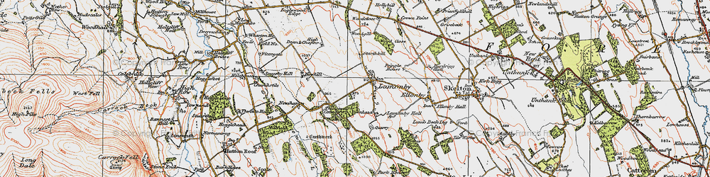 Old map of Wood Close in 1925