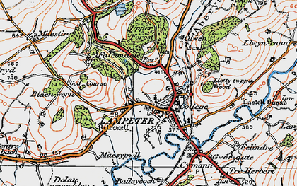 Old map of Lampeter in 1923