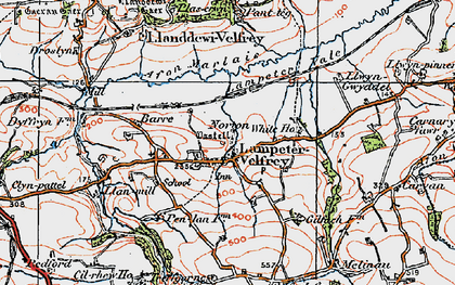 Old map of Afon Marlais in 1922
