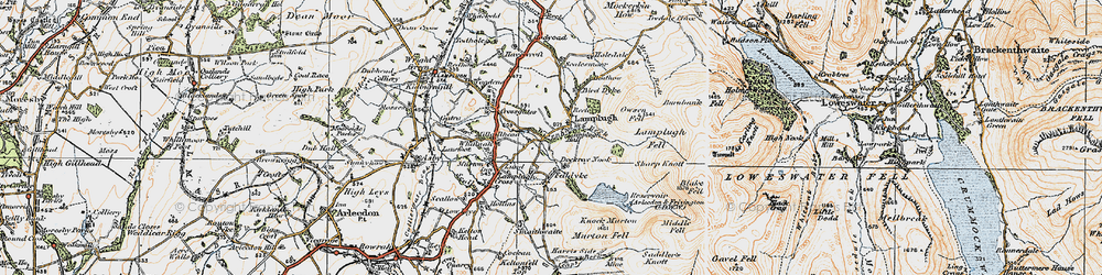 Old map of Wisenholme Beck in 1925