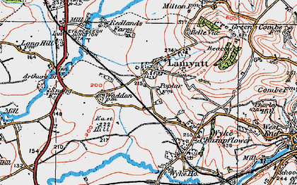 Old map of Wyke Ho in 1919