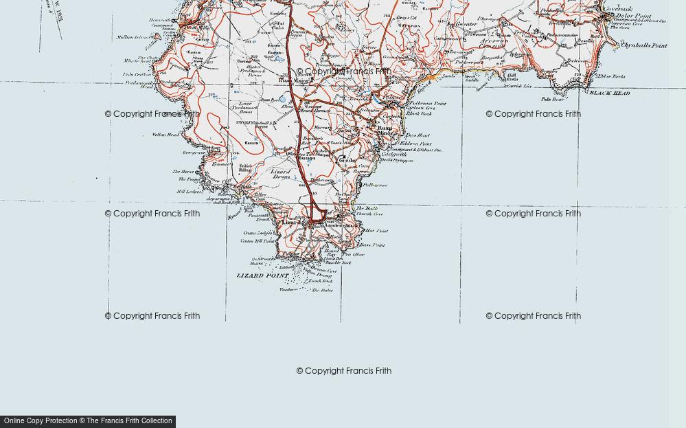 Old Map of Landewednack, 1919 in 1919