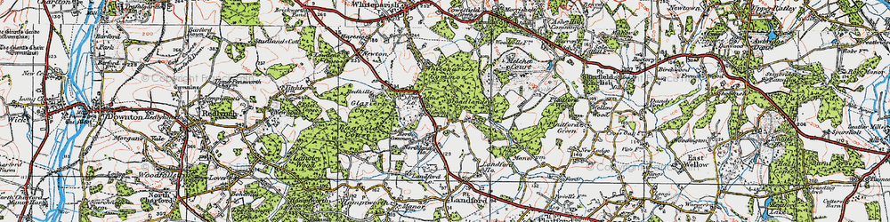Old map of Whiteparish Common in 1919
