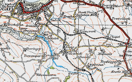 Old map of Lane in 1919