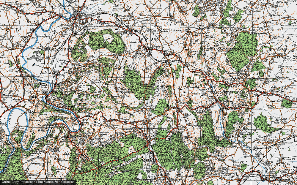 Old Map of Historic Map covering Lea Bailey Inclosures in 1919