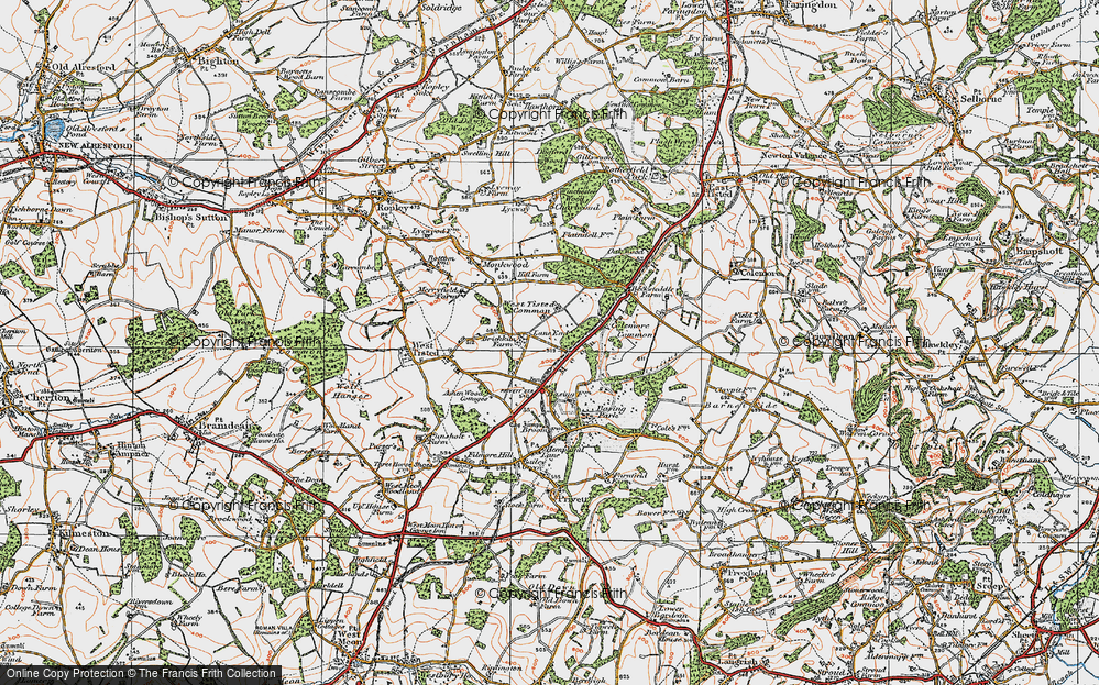 Old Map of Lane End, 1919 in 1919