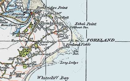 Old map of Lane End in 1919