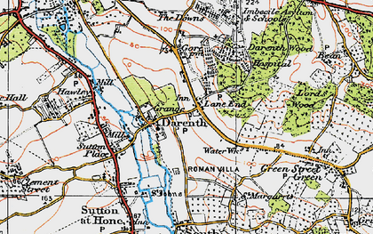 Old map of Lane End in 1920