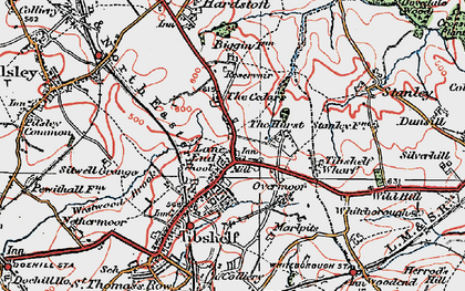 Old map of Tibshelf Services in 1923