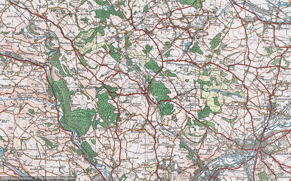 Old Map of Lane End, 1924 in 1924