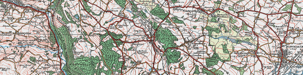 Old map of Lane End in 1924