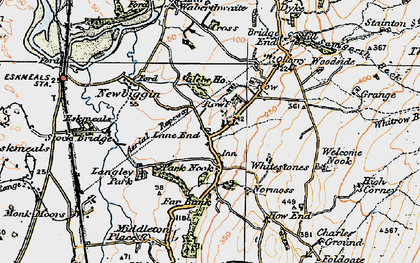 Old map of Waberthwaite in 1925