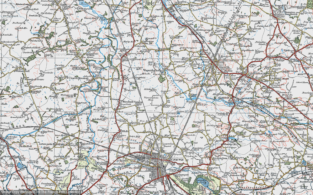 Old Map of Lane Ends, 1923 in 1923