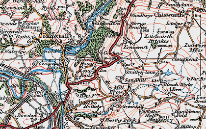 Old map of Lane Ends in 1923