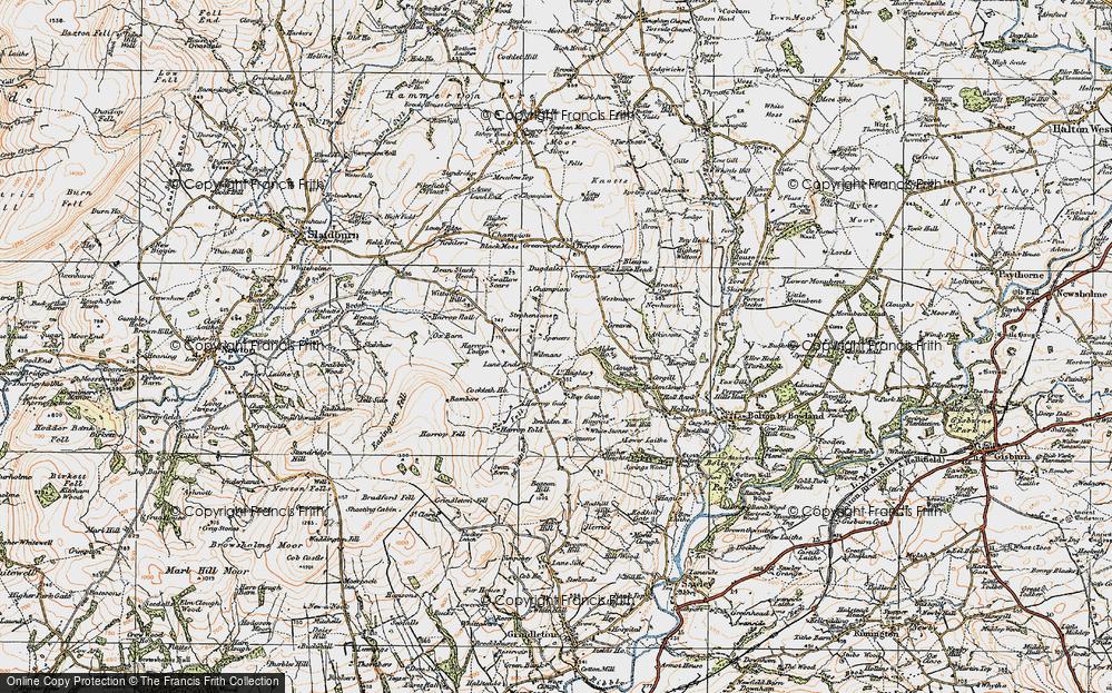 Old Map of Historic Map covering Alder Ho in 1924