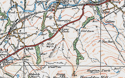 Old map of Lane Ends in 1924