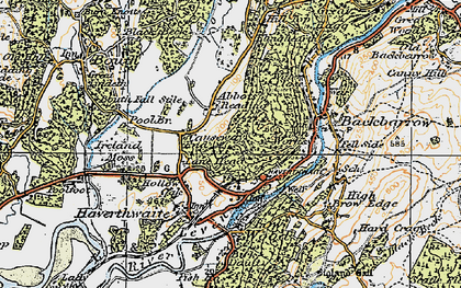 Old map of Lane Ends in 1925
