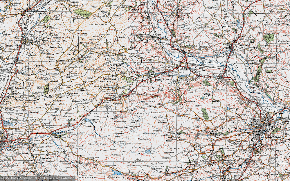Old Map of Lane Ends, 1925 in 1925
