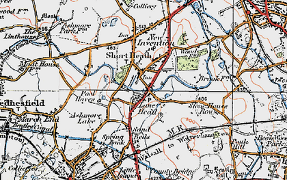 Old map of Lane Head in 1921