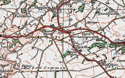 Old map of Lane Head in 1924