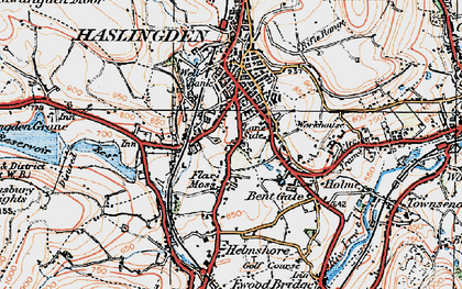 Old map of Lane Side in 1924