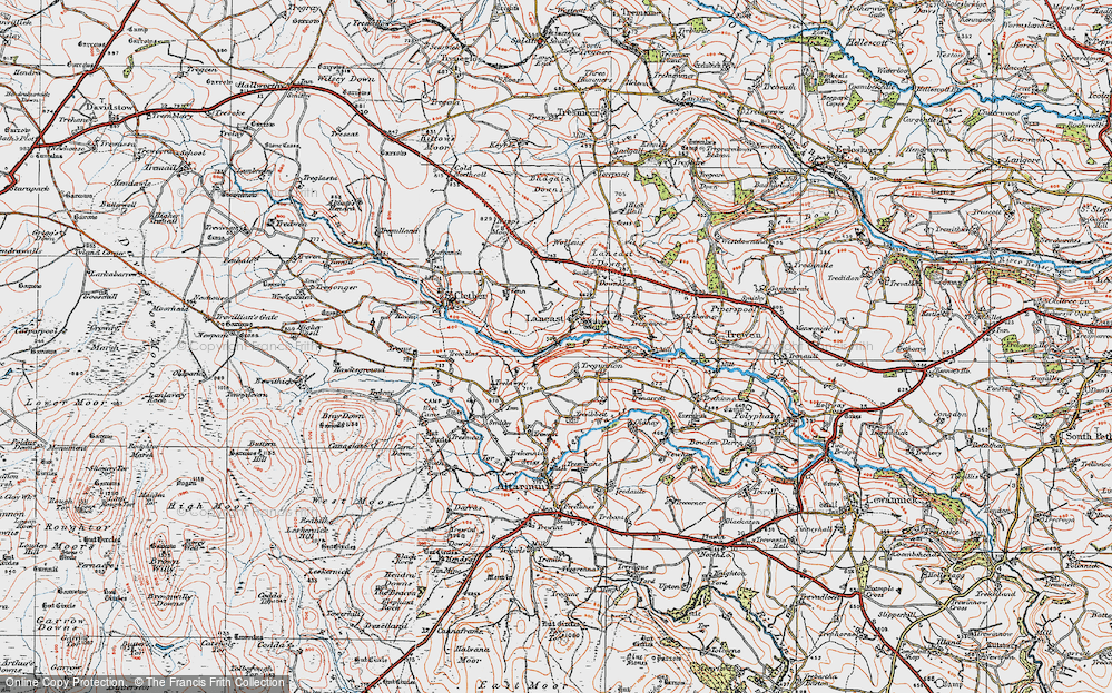 Old Map of Laneast, 1919 in 1919