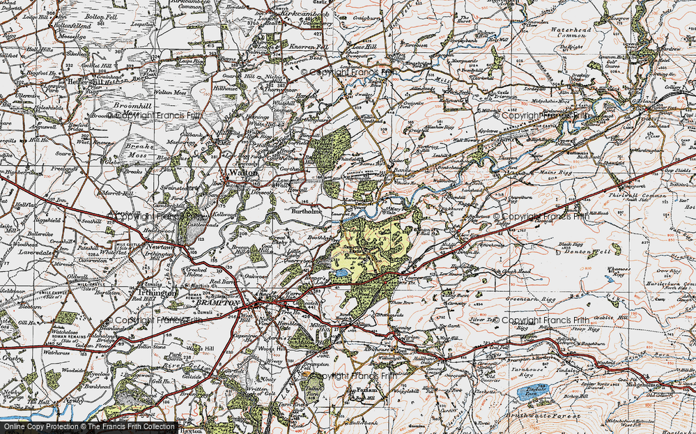 Old Map of Lanercost, 1925 in 1925
